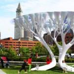 Karbonsemlegesítő mesterséges fák
